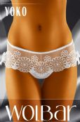 'Wolbar Lingerie' Yoko Ladies Lace Detail Sheer Briefs ( UK Size 10 - 16 )
